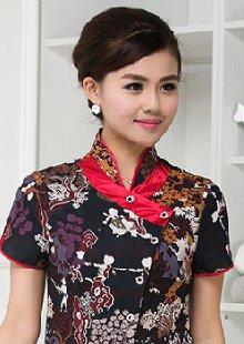 中式餐厅茶楼农家院服务员工作服