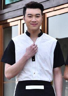 工作服夏中式餐厅男女款服务员短袖