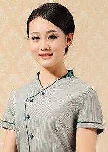 工作服夏装服务员服装短袖