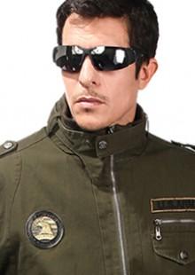 装上衣暗军绿色细帆布工作服100%棉电焊工服