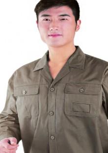 长袖工作服套装男纯棉时尚工作服劳保服
