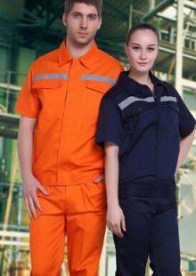 夏季防静电工作服短袖加油站工程服