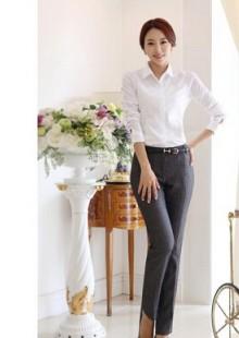 公务员面试女性衬衣女式衬衫气质工作服宾馆长袖女士寸衫