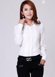 春季女士修身职业女性长袖女式雪纺衬衫配西装打底衫