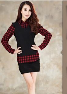 女性衬衫韩版修身显瘦大号女装