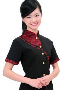 火锅饭店茶楼中餐厅服务员服装餐饮制服短袖