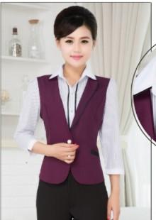 酒吧饭店服务员工作制服女中袖
