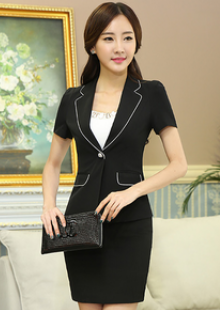 2015新款夏工作服套装前台酒店职员短袖西装制服