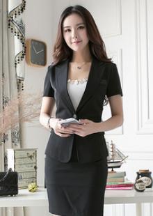 新款职业装女装套裙工作服修身气质短袖西服