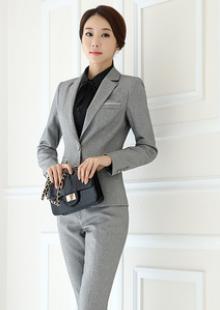 黑色长袖面试职业装女装职业女士西装