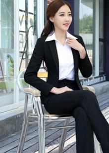 春秋新款职业装女装套装修身显瘦西装