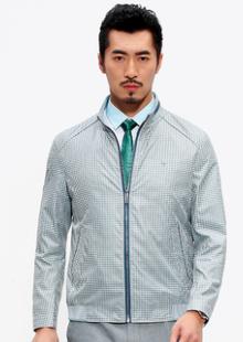 2015秋装新款男士立领直筒茄克衫