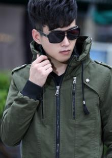 秋冬青少年夹克衫男薄款外套韩版修身潮男士夹克