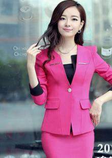 秋装职业装西装套装韩版服务行业