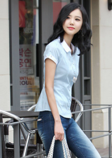 高端女性职业装衬衫开衫寸衫短袖