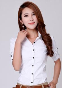 商务休闲职业短袖衬衣韩版修身