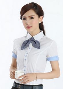 夏季新品韩版潮修身职业女性正装衬衣