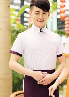 酒店工作服夏装女西餐厅服务员短袖制服