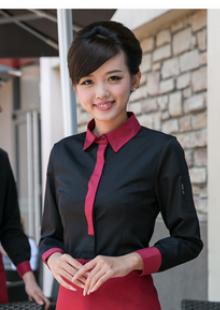 女领班收银长袖制服西餐厅咖啡厅服务员