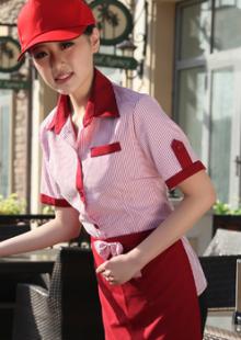男女工作服饭店传菜生工装上衣