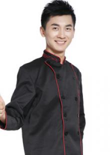酒店厨师服快餐店制服秋冬新款男装