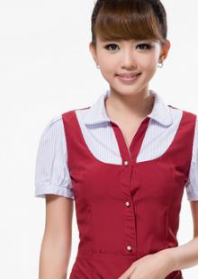 中餐厅服务员工作服短袖饭店传菜服