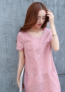 夏装新款韩版女装大码中长裙