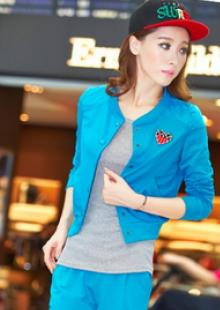 运动女装休闲套装韩版卫衣三件套修身