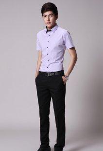 职业装短袖衬衫男士专业订制