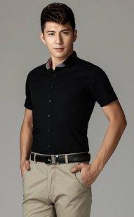 订做职业装短袖衬衫男款公司