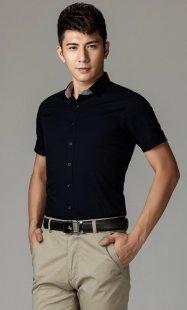 定制职业装短袖衬衫男款公司