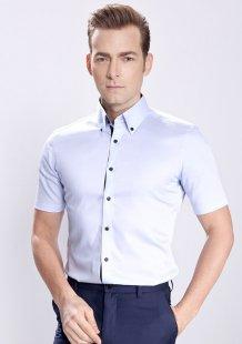 定制男款职业装短袖衬衫公司