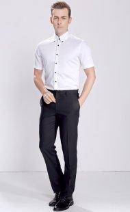 职业装短袖衬衫男款专业定做公司