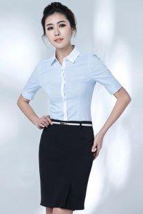 女性职业装衬衫短袖定做公司