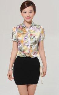 专业女性职业装衬衫短袖订制