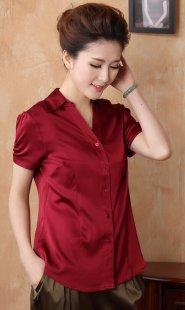 专业女装职业装衬衫短袖订制公司
