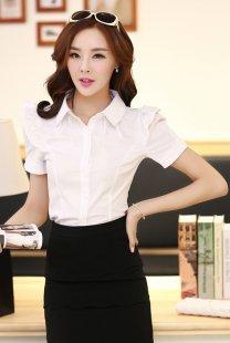 专业女士职业装衬衫短袖订制公司