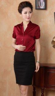 专业女装职业装衬衫短袖定做公司