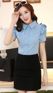 职业装女装衬衫短袖定制