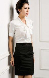 职业装女性衬衫短袖定制