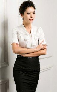 职业装女士衬衫短袖订制