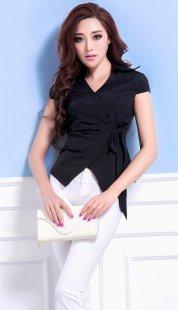 职业装女性衬衫短袖订做公司