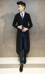 男性职业装大衣订做