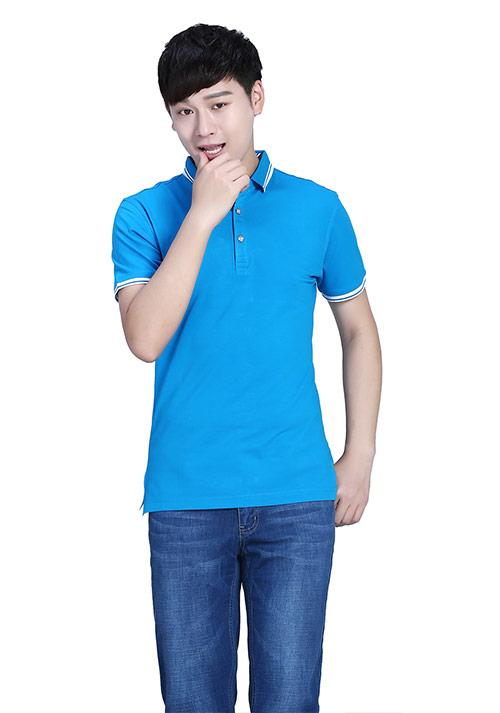 蓝色短袖T恤