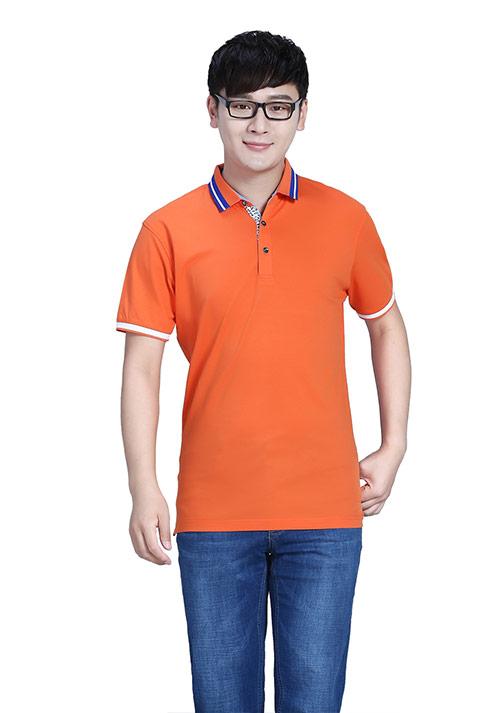 橘红色T恤定制
