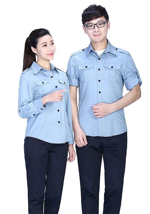 纯棉加工衬衫工作服