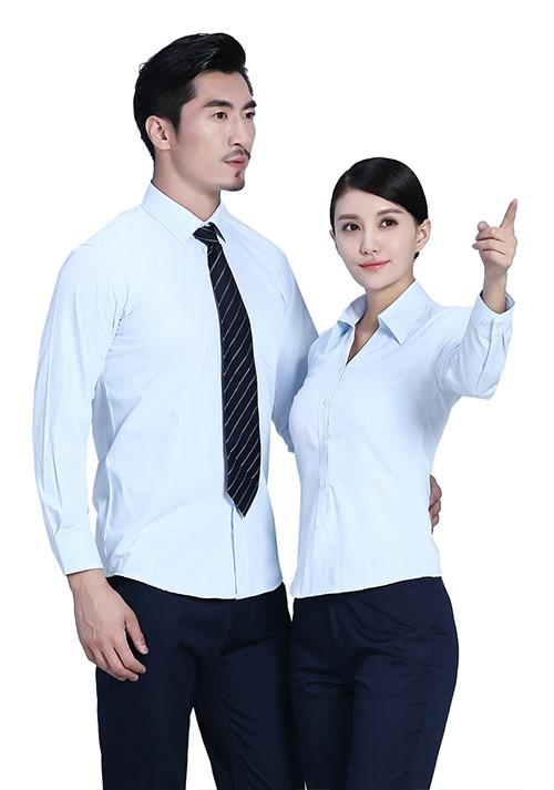 浅蓝色职业衬衫定制