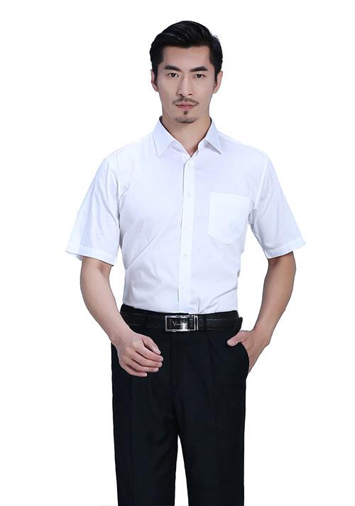 白色职业衬衫定制