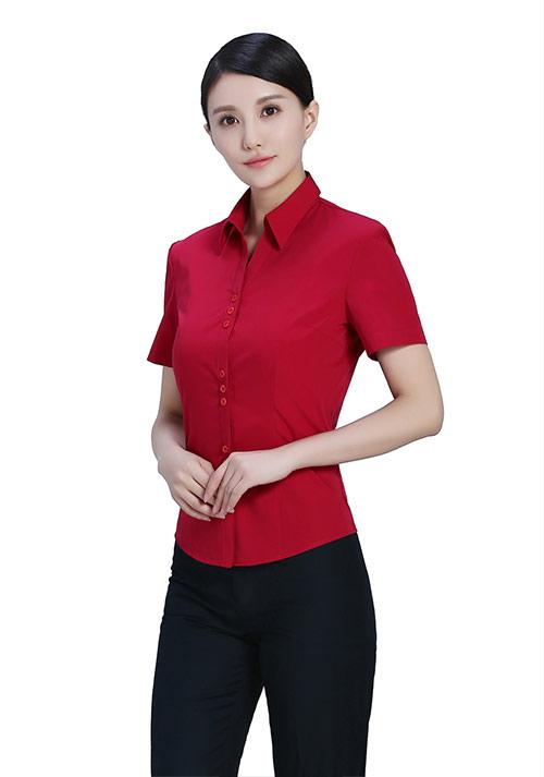 红色职业衬衫定制